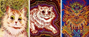 Cats painted over time of personality disintegration