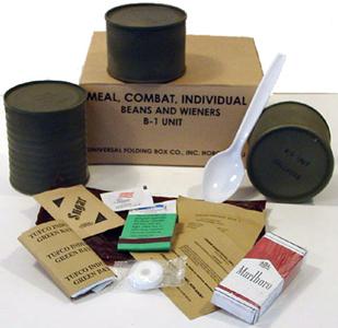 C-rations, battle field necessities
